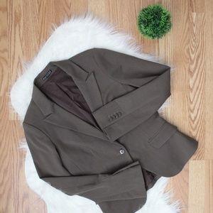 Express Womens Brown One Button Blazer 8 EUC